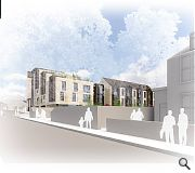 The development will rise to five storeys at the junction with Manse Road