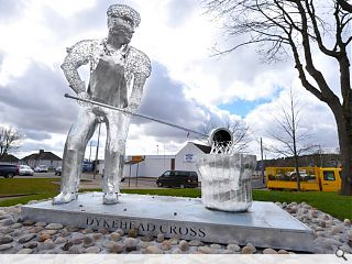 Shotts Giant stands tall at revamped cross