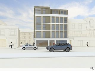 Retirement flats for Largs seafront secure planning ok