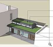The planned extension will replace an existing structure