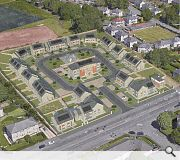 A large central open space conceived provide both a play area and amenities
