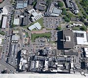 An aerial view of the existing Western Infirmary site