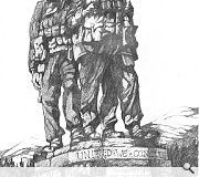 The Spean Bridge memorial comprises a group of three bronze commandos, looking south towards Ben Nevis. Category A listed. Sculptor Scott Sutherland 1952