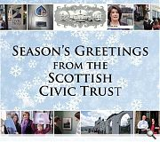 The Scottish Civic Trust opted for a reflective postcard of the past year, reminiscing over some of the organisations main activities.