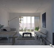 2.1m high windows open onto private terraces