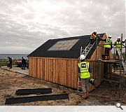 The structure is designed to be both lightweight and strong to withstand bracing Atlantic winds