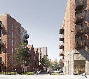 A unifying palette of brick will be employed for all homes