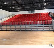 A hall and theatre space are incorporated within the build