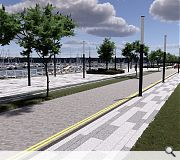 Environmental enhancements will increase the attractiveness of Granton Harbour as a place to linger