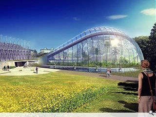 Curvaceous botanical glasshouse earns a green light from planners