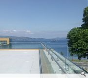 A roof terrace offers expansive views of the Cowal Peninsula