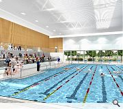 Facilities include a 25m 6 lane swimming pool, teaching/warm up pool and spectator seating