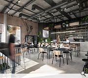 AQ public cafe will help to animate the historic courtyard
