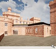 A repurposing of the castle has been made possible by relocation of the courts
