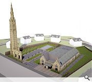 The footprint of the former Roystonhill Church will be relandscaped under the plans