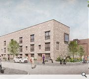 Terraced housing with featured gables will be introduced at Norfolk Court