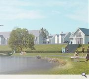 Residents will benefit from views across a newly formed loch