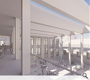 A new atrium will conjoin existing campus properties
