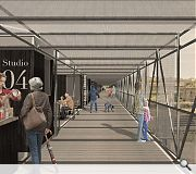 Highland Lane will be reinstated as a pier structure to accommodate workshops, training and cultural events