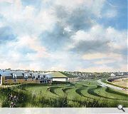 Landscape design has been considered to match the natural contours of St Andrews beach