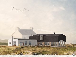 Planning won for Tiree byre & boat shed home