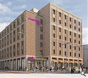 A 262-room Moxy hotel will anchor the phase one development
