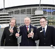 (L-R) Tom Russell, Chief Executive of New East Manchester Ltd; Sir Richard Leese, Leader of Manchester City Council and Sir Howard Bernstein, Chief Executive of Manchester City Council