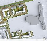 A range of mixed tenure properties will be anchired by a health centre