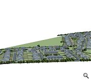 An aerial plan of the proposed scheme