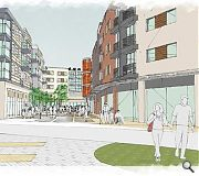 A public square will form the heart of the revitalised precinct
