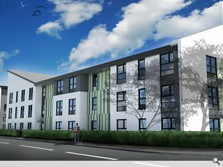 Clydebank affordable housing project moves on site