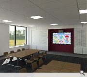 A typical classroom within the new school