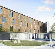 Three floors of accommodation will be stacked above a double height performance space