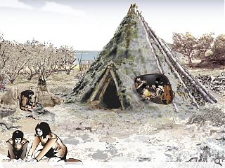 Mesolithic house unearthed by the River Forth