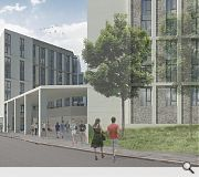 The scheme is designed to bridge the gap between the new college campus and residential area