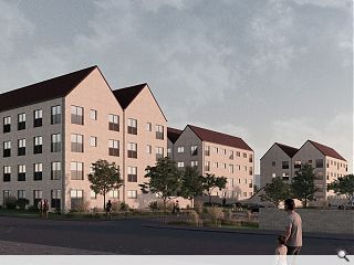 Mid-market Milton homes to form a courtyard gateway
