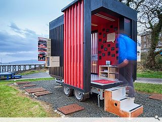 Strathclyde student's trailer pavilion completes nationwide tour