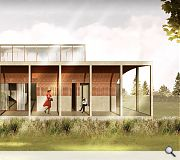 Large sliding windows will open out onto the covered verandah
