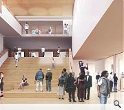 Two additional floors of exhibition space will be created as a result of the work