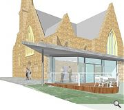 "A glazed cafeteria is intended to act as a ""beacon"" on the High Street"