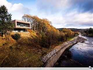 SSE powers on cantilevered Pitlochry dam visitor centre
