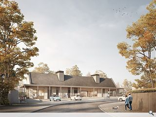 Pavilion stores give heart to Inverkeithing masterplan