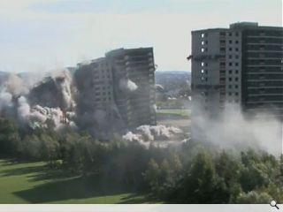 Dust settles after Sighthill tower blocks demolition