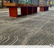 Paving incorporates embedded nautical heritage themes