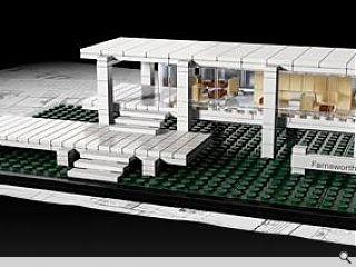 Farnsworth House given Lego makeover