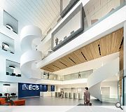 Social and gathering spaces will be included in the main atrium