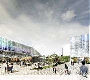 A waterfront hotel and improved public realm will improve engagement with the river