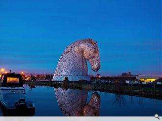 The Kelpies take centre stage at NY's Tartan Week ahead of official opening