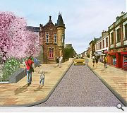 Granite slabs will complement and connect two of Maybole's key civic buildings
