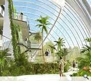 An open air link will connect the new glasshouse to the current Front Range